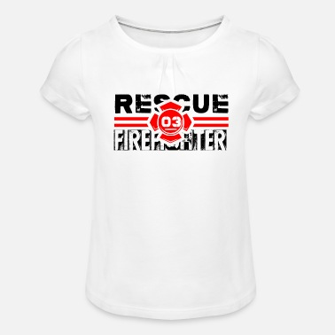 RESCUE FIREFIGHTER T-SHIRT - Girls' Ruffle T-Shirt