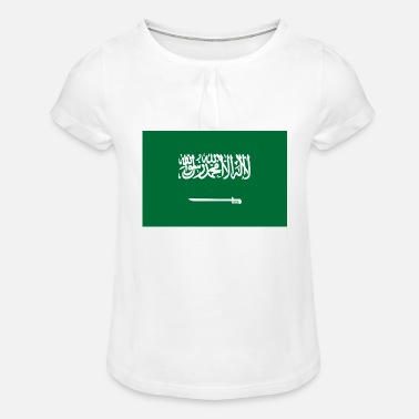 Jeddah National Flag Of Saudi Arabia - Girls' Ruffle T-Shirt