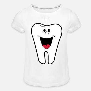 Tooth tooth - Girls' Ruffle T-Shirt