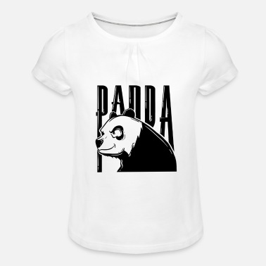 Panda - T-shirt à fronces Fille