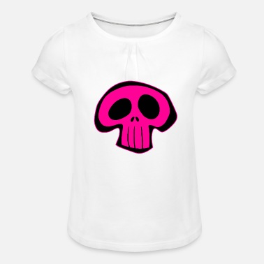 Cute Skull Cute skull - Girls' Ruffle T-Shirt