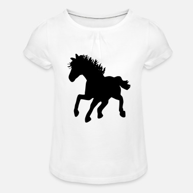 Cheval Sauvage cheval sauvage - T-shirt à fronces Fille