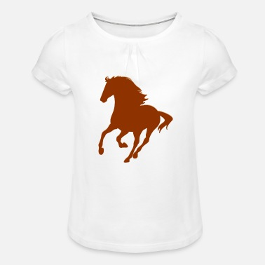 Real Horse - Girl's T-Shirt with Ruffles