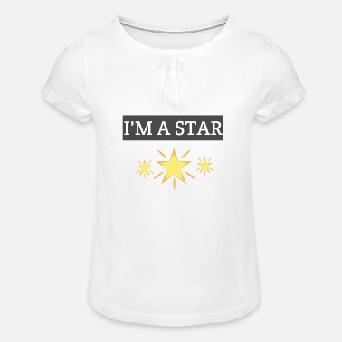I am a star - Girls' Ruffle T-Shirt