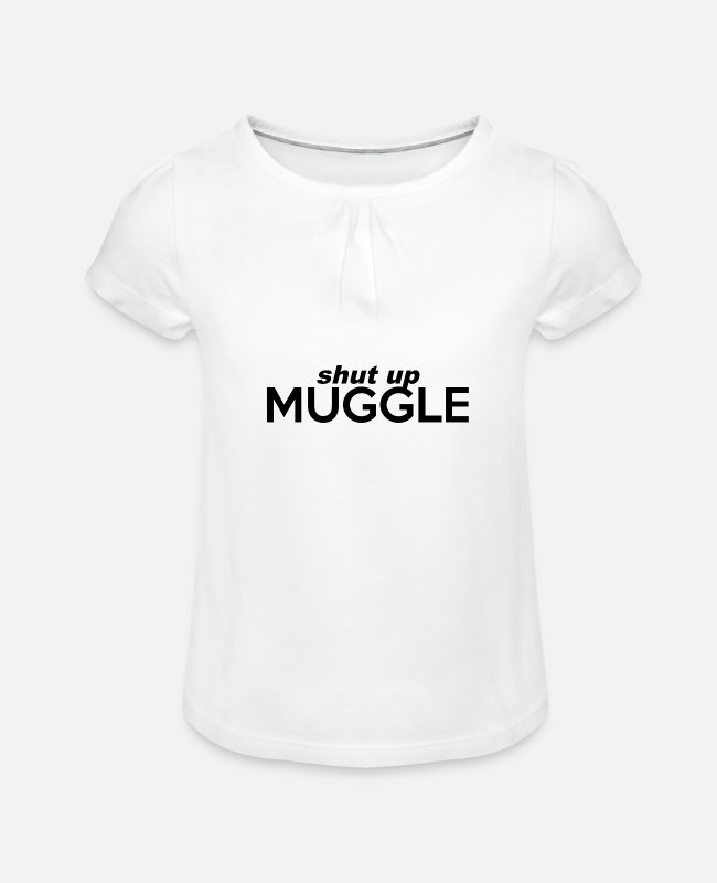 Harry T-Shirts - Muggle Harry Potterr - Girls' Ruffle T-Shirt white