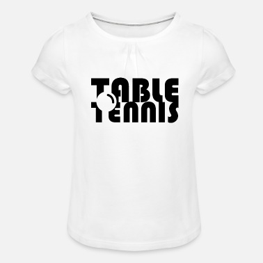 tabletennis table tennis ball player player symbol - Girls' Ruffle T-Shirt