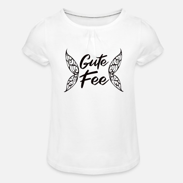 Good fairy magic love wings mystical mythical creature - Girls' Ruffle T-Shirt