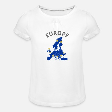 Europe Europe Flag - Girls' Ruffle T-Shirt