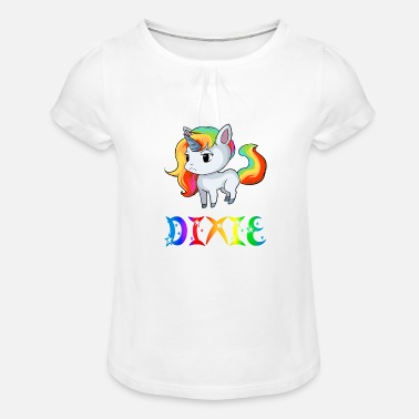 Dix Einhorn Dixie - T-shirt à fronces Fille