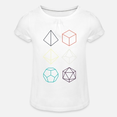 Dungeons And Dragons Minimal dnd (dungeons and dragons) dice - Girls' Ruffle T-Shirt