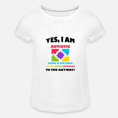Awareness Autistic Autism Awareness - Girls' Ruffle T-Shirt