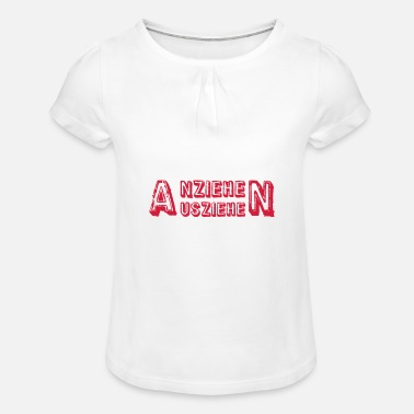 Different Underwear remove undress - Girls' Ruffle T-Shirt