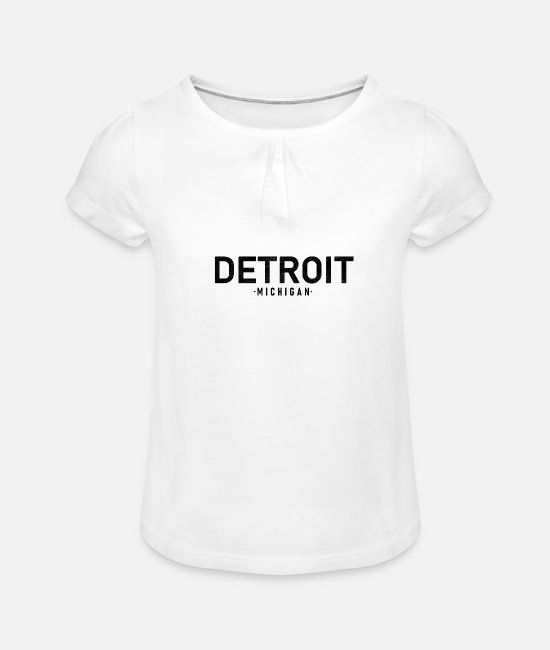 Vacances T-shirts - Detroit - T-shirt à fronces Fille blanc
