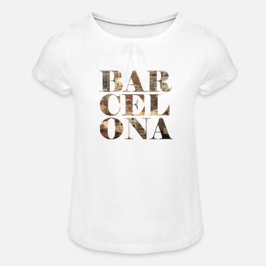 Barcelona - Camiseta con drapeado niña a116323e71b