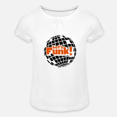 Blaxploitation Discoball - Girls' Ruffle T-Shirt