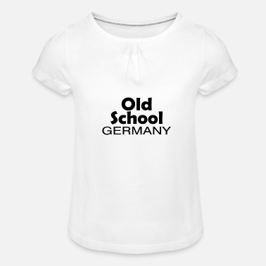 Federal Republic Of Germany Old School Germany origin home gift - Girls' Ruffle T-Shirt