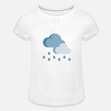 Rain rain - Girls' Ruffle T-Shirt