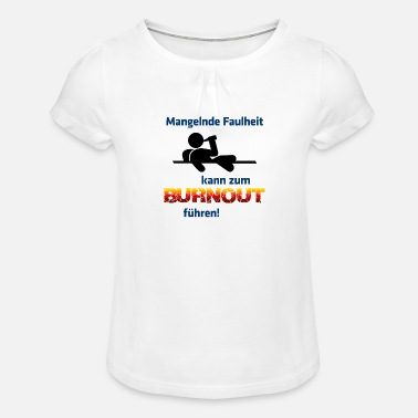 Burnout burnout - Girls' Ruffle T-Shirt