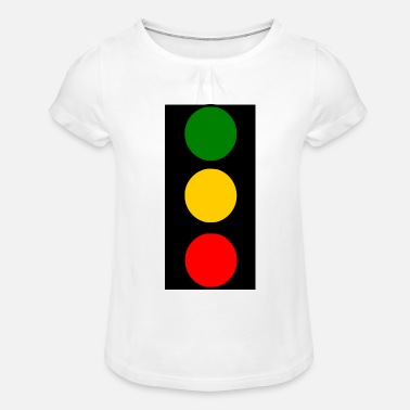 Traffic traffic lights - Girls' Ruffle T-Shirt