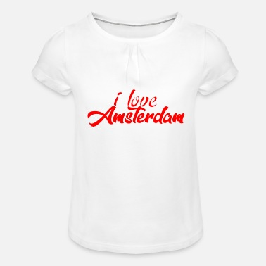 Paysbas AMSTERDAM CITY - T-shirt à fronces Fille