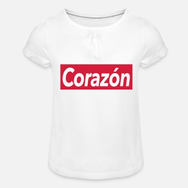 Corazon Corazon - coeur - T-shirt à fronces Fille