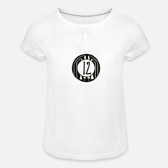 Gift Idea T-Shirts - TWELVE - 12 TWELVE - Girls' Ruffle T-Shirt white