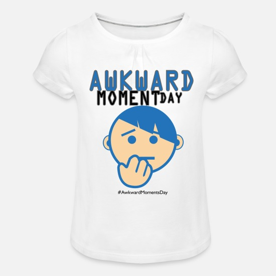 Gift Idea T-Shirts - Day of Embarrassing moments - Girls' Ruffle T-Shirt white