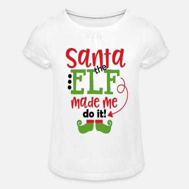 Elf SANTA THE ELF - Girls' Ruffle T-Shirt