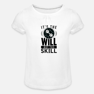 Ability It is the will and not the ability # 2 - Girls' Ruffle T-Shirt