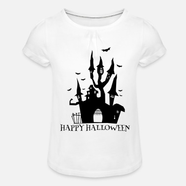 Halloween Castle - Girls' Ruffle T-Shirt