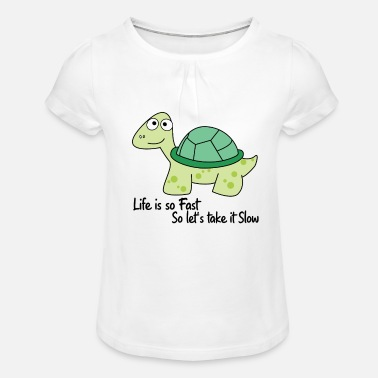 Slow slow down - Girls' Ruffle T-Shirt