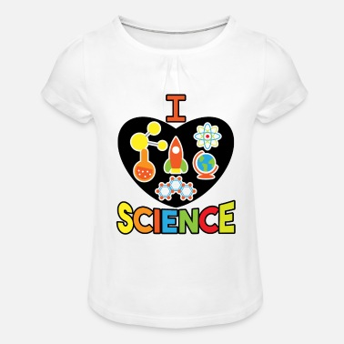 Computer Science, computer science, math, biology, chemistry - Girls' Ruffle T-Shirt