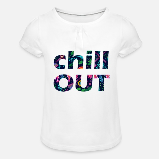 Caractères T-shirts - CHILL OUT - T-shirt à fronces Fille blanc