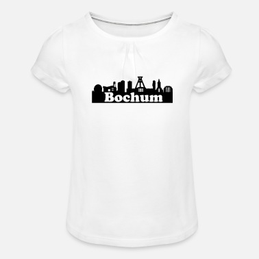German Mining Museum Bochum + Skyline - Girls' Ruffle T-Shirt