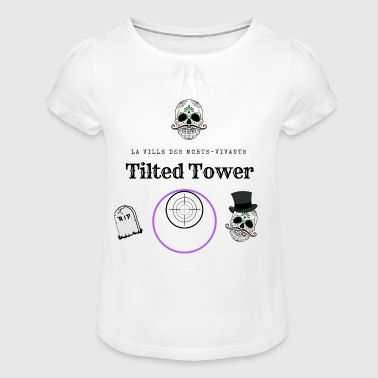 La ville des morts-vivants, Tilted Tower - T-shirt à fronces au col Fille