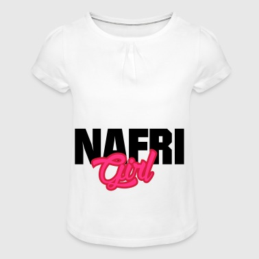 NAFRI Girl - Girl's T-shirt with Ruffles
