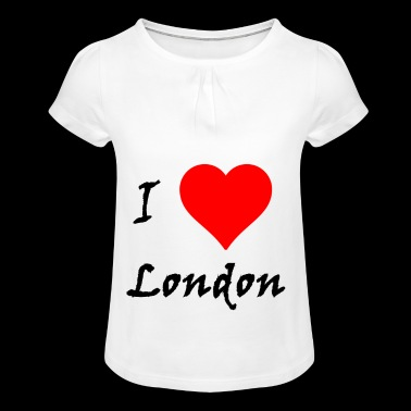 I love London / I love / Souvenir - T-shirt à fronces au col Fille