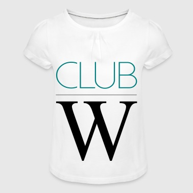 Club W modifiable - T-shirt à fronces au col Fille