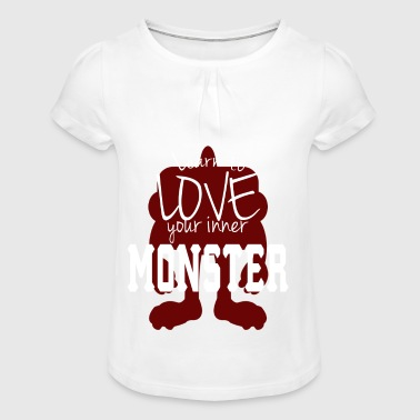 Learn to love your own Monster Tee - Girl's T-shirt with Ruffles