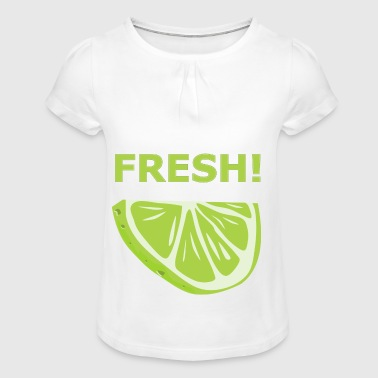 Fresh lime - gift idea - Girl's T-shirt with Ruffles