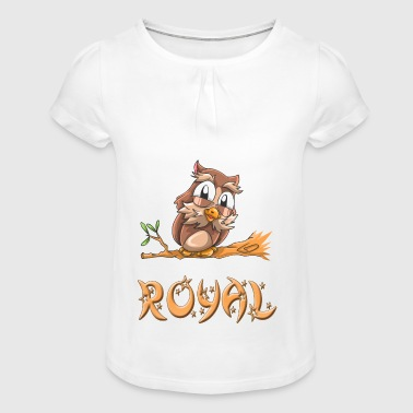 Owl royal - Girl's T-shirt with Ruffles