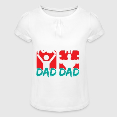 MY DAD YOUR DAD - Girl's T-shirt with Ruffles