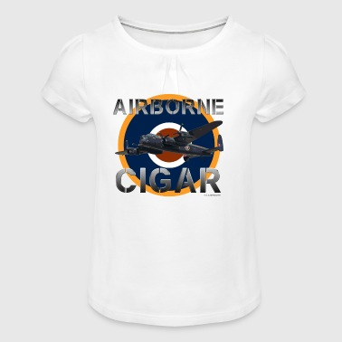 LB1117-AIRBORNE - Girl's T-shirt with Ruffles