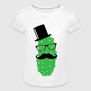 Mr. Cucumber Pickle Troop Sir Mister Dill with it 1c - Girl's T-shirt with Ruffles