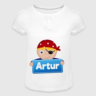 Little Pirate Artur - Girl's T-shirt with Ruffles