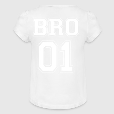 BRO 01 - White Edition - T-shirt à fronces au col Fille