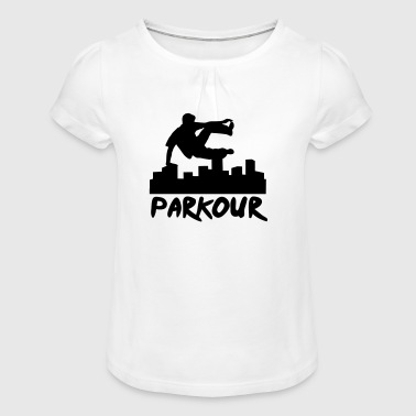 Free running in the city, parkour - T-shirt à fronces au col Fille