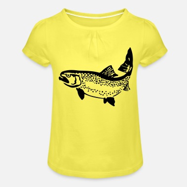 Trout trout - Girls' Ruffle T-Shirt