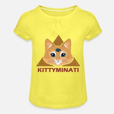 Cats And Dogs Collection Kittyminati - Girls' Ruffle T-Shirt