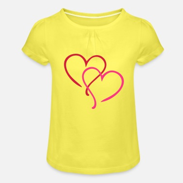 Tlc Heart Love - T-shirt à fronces Fille